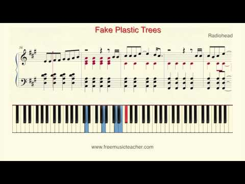 "How To Play Piano: Radiohead ""Fake Plastic Trees"" Piano Tutorial by Ramin Yousefi"