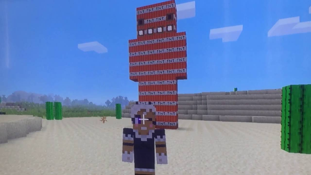 Worksheet. Minecraft  blowing up a tnt man  YouTube