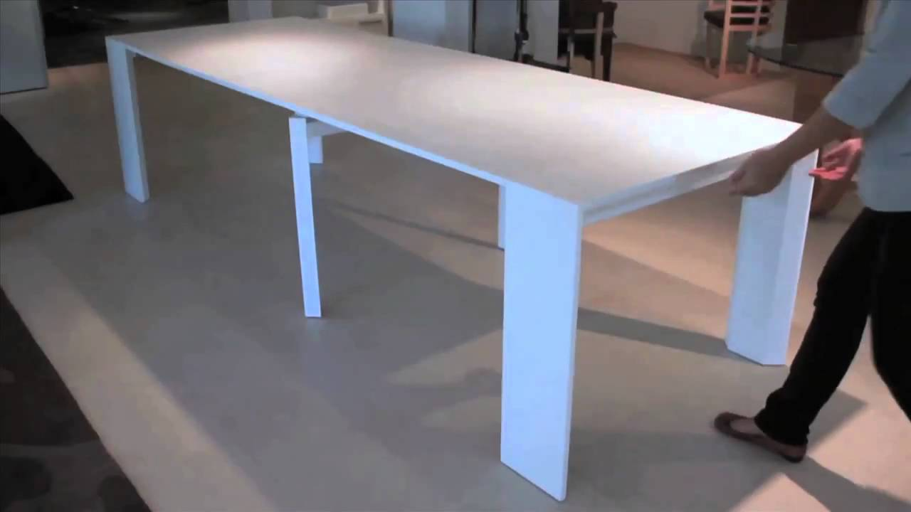 Resource furniture new space saving furniture youtube for Table console retractable