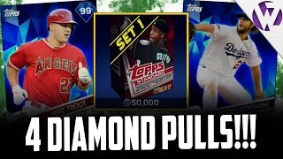 4 DIAMOND PULLS!!! MLB THE SHOW 17 PACK OPENING - MLB THE SHOW 17 DIAMOND DYNASTY