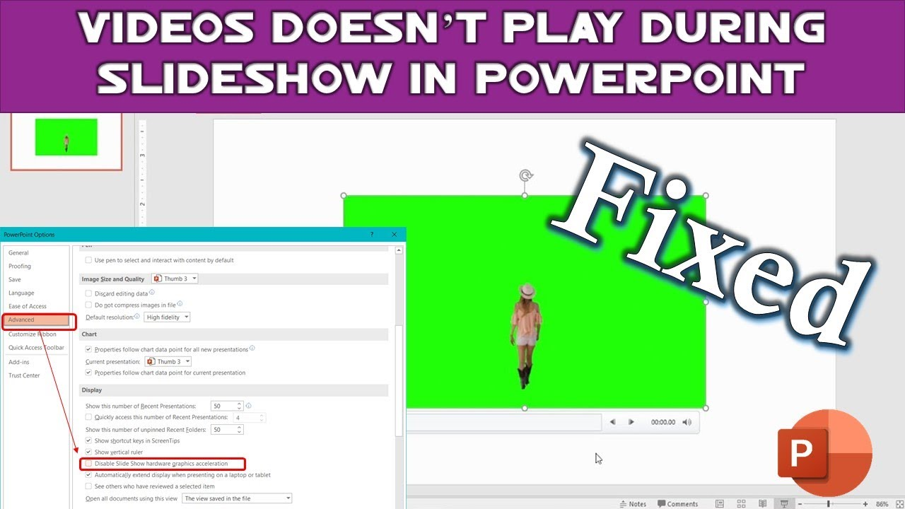 Embedded Videos Doesn't Play In Powerpoint Slideshow  Microsoft Powerpoint  2016 Tutorial