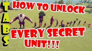 How to Unlock All 12 Secret Units in TABS   Dynasty Update