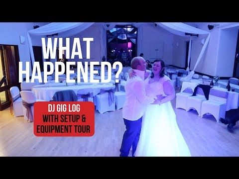 DJ Gig Log: English Village Hall Wedding with Mobile DJ Equipment Tour and Wedding DJ Setup