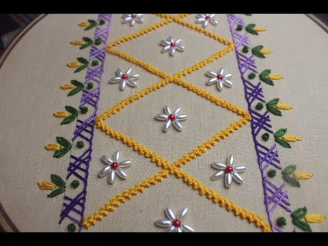 Bead border embroidery design | Hand embroidery designs