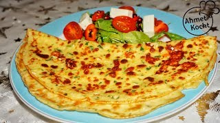 Crepes mit Schafskäse und Paprika | Ahmet Kocht | vegetarisch kochen | Folge 270