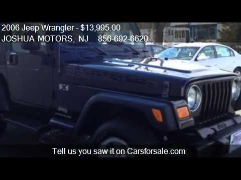 2006 jeep wrangler x for sale in vineland nj 08360 for Joshua motors vineland nj