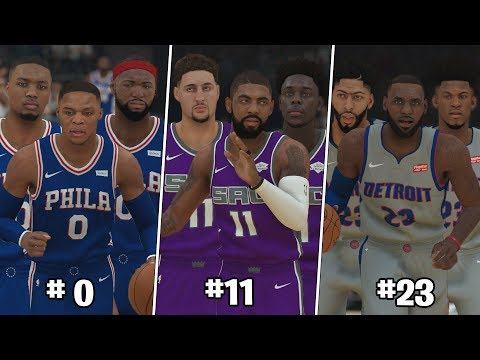 What If NBA Teams Were Based Off Jersey Number? | NBA 2K19
