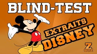 BLIND TEST - EXTRAITS DES DESSINS ANIMES DISNEY