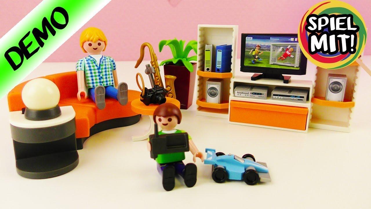 Playmobil WOHNZIMMER City Life für das Moderne Wohnhaus - Demo deutsch