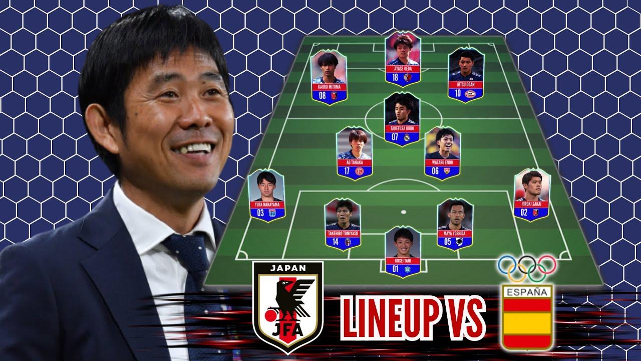 Japan vs Spain l  Japan Potential Lineup Olympic Tokyo 2020 l Semi Final