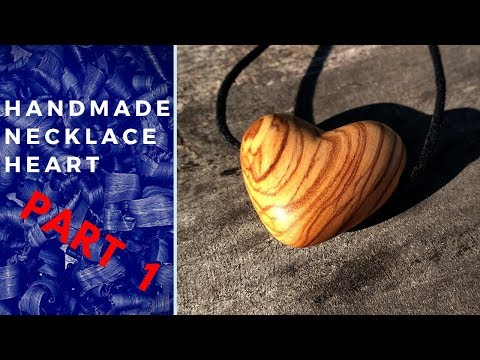 Download musik diy wood jewelry necklace heart made of olive wood nakit P1 Mp3 online