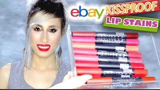 ALL SHADES! | EBAY £1 Me Now Kissproof Lip Stains | PART 2