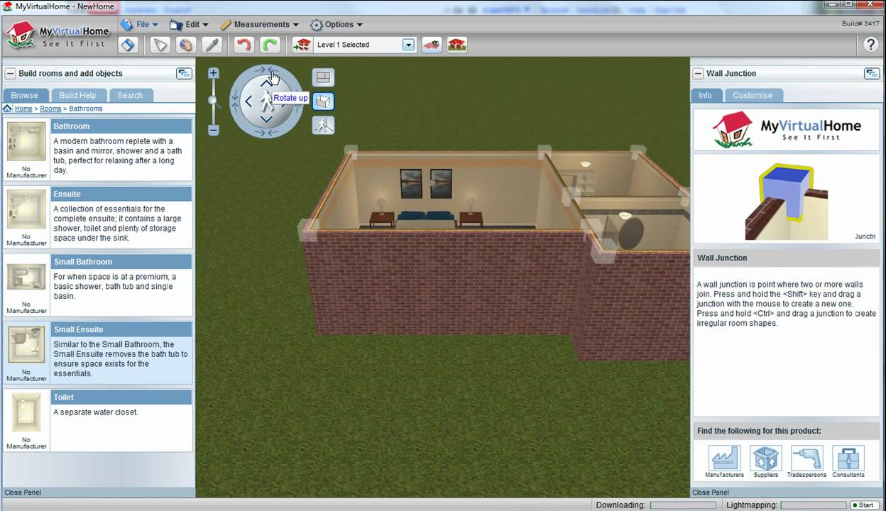 Myvirtualhome free 3d home design software youtube Free 3d software