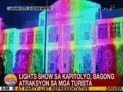 UB: Light show sa kapitolyo, bagong atraskyon sa mga turista sa Laoag City, Ilocos Norte