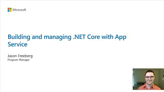 Building and managing .NET Core with App Service | BOD126