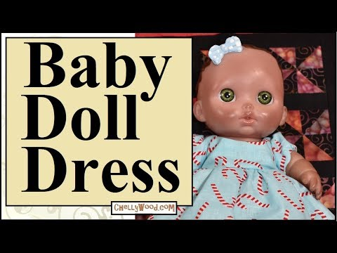 Free Doll Clothes Patterns Holiday Dress For 8 Inch Baby Dolls