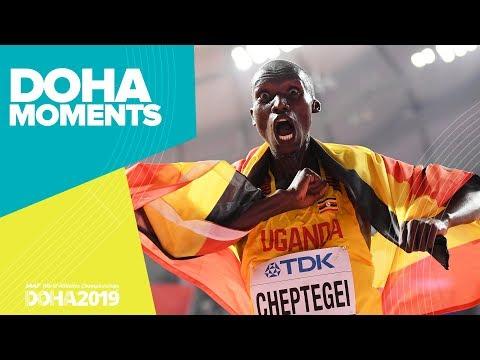 Joshua Cheptegei Wins 10,000m Gold   World Athletics Championships 2019   Doha Moments