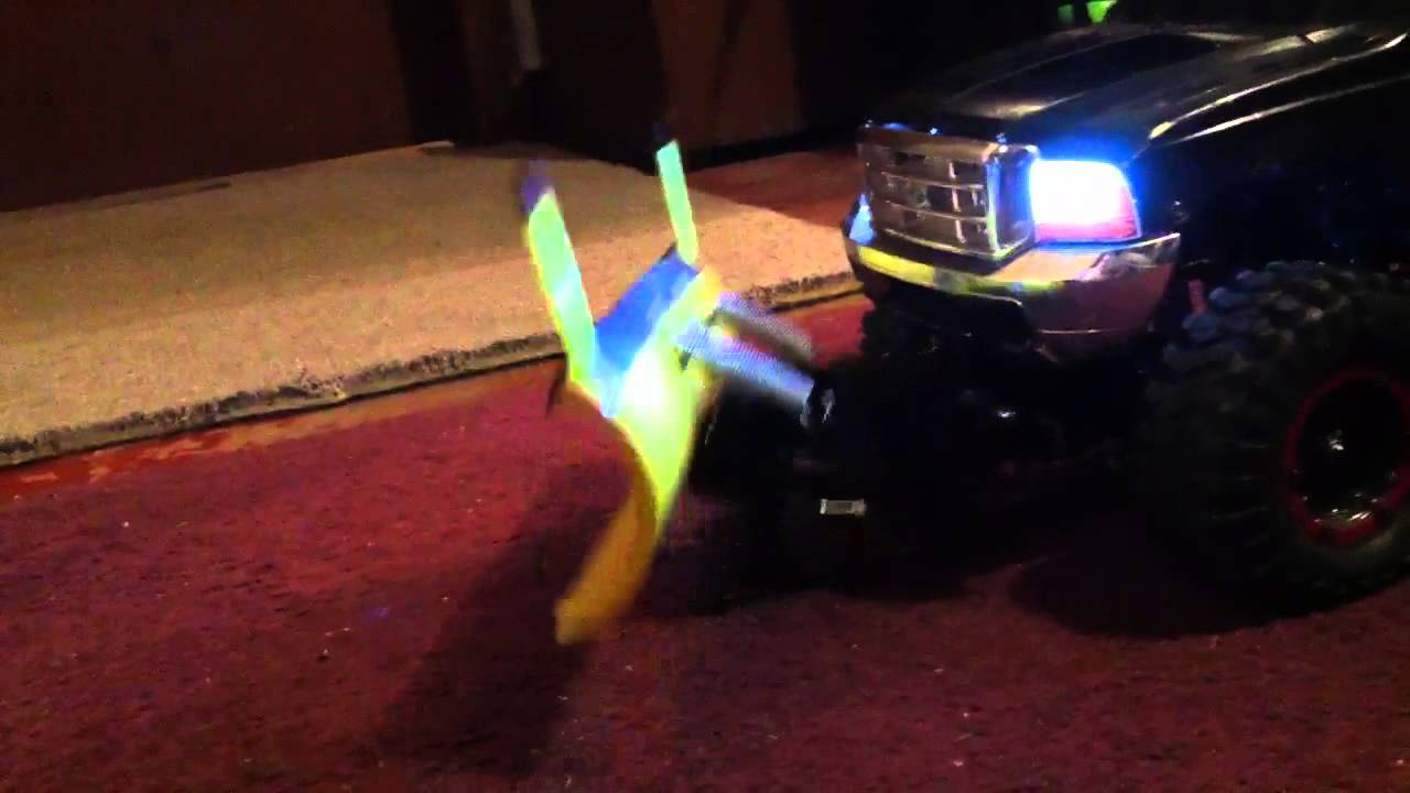 Rc Scale Truck With Plow Camper Boat And Trailer