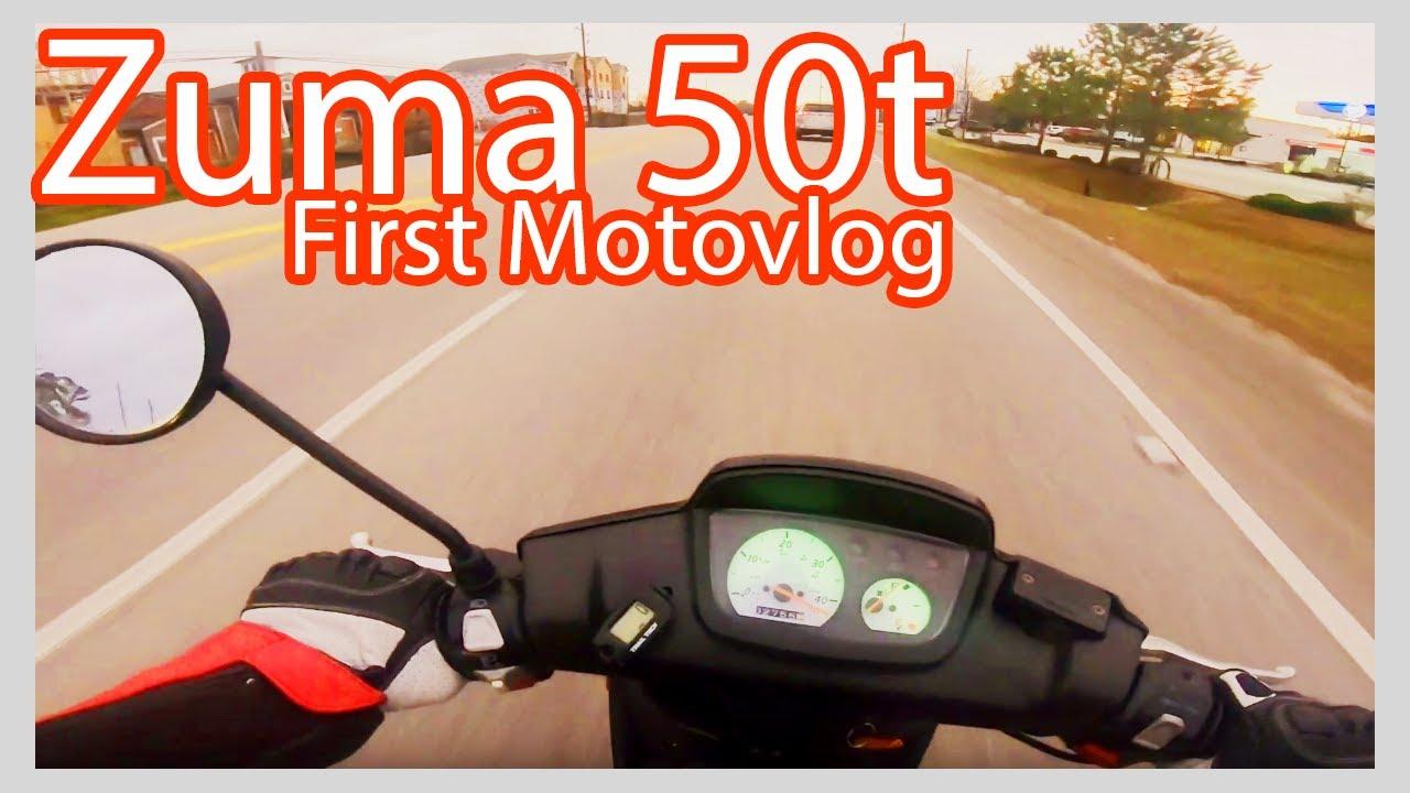 Yamaha Zuma 50t - First Motovlog ride #zuma #twostroke