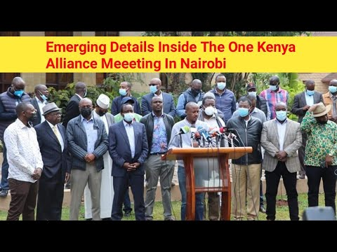 Emerging Details: Inside The One Kenya Alliance Technical Committee Meeeting @Stureh Punchline