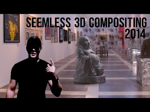 3ds Max 2014, After Effects TUTORIAL - 3d Visual Effects VFX compositing workflow, photorealism