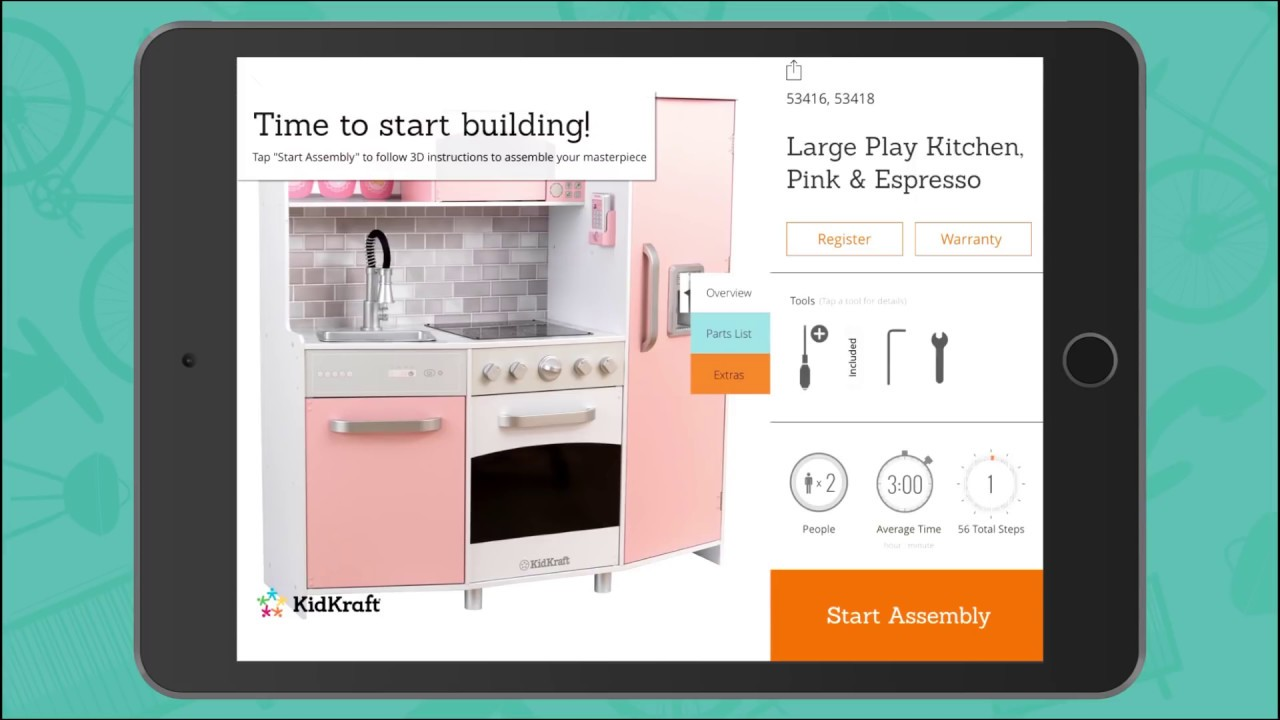 Large Play Kitchen Toy Assembly Video By Kidkraft Youtube
