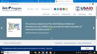 CARA MENGAKSES DATA SURVEI DEMOGRAFI KESEHATAN INDONESIA (SDKI) DAN NEGARA LAINNYA