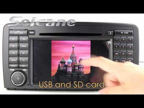Seicane Touch screen 2006-2013 Mercedes Benz R280 R300 R320 DVD player navigation system