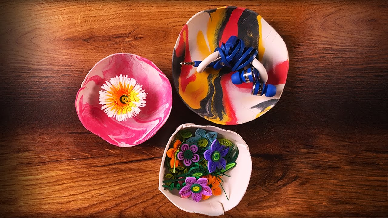 Cute Bowls Out Of Clay Clay Craft Ideas Youtube