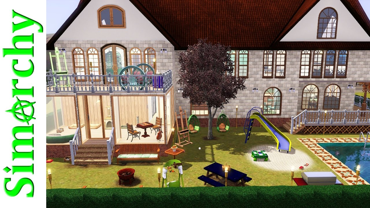 The sims 3 house tour large 2 story suburban family home pets only expansion pack