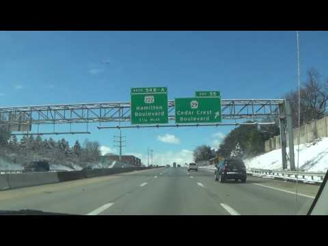 Driving on Interstate 78 W (Allentown, PA to South Whitehall Township, PA)