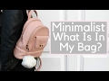What Is In My Bag/Backpack? - Minimalist Edition! | Naomi Kenya