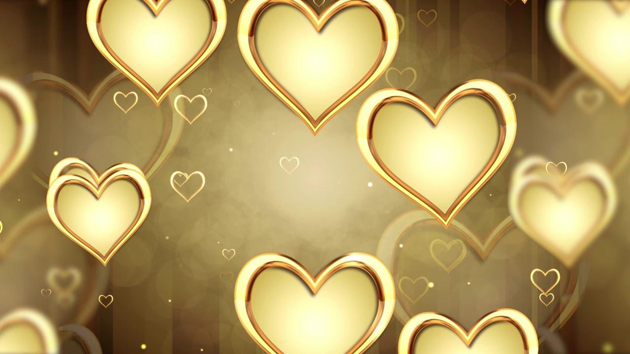 Golden Hearts Video Background Love Background Wedding Background Youtube