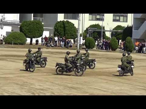 第10偵察隊によるオートバイドリル!! 春日井駐屯地創立51周年記念行事