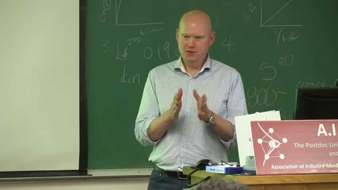 So, you want to be an entrepreneur? - Thorsten Melcher on biotech  entrepreneurship - AIMS/Stanford