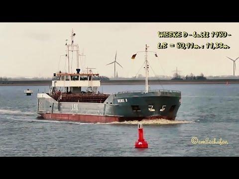 coaster WIEBKE D V2CN IMO 7924401 Gandersum cargo seaship merchant vessel KüMo Seeschiff