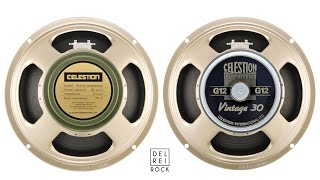 Celestion Greenback G12M vs Vintage 30