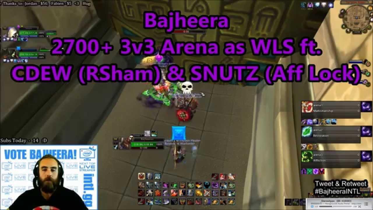 Bajheera 2700 3v3 arena w snutz cdew as wls 5 4 8 for Wow portent 5 4