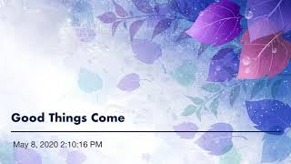 """Me Singing """"Good Things Come"""" by Eric Hutchinson"""