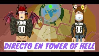 GRITOS Y EMOCION EN TOWER OF HELL // ROBLOX // (29-09-19)