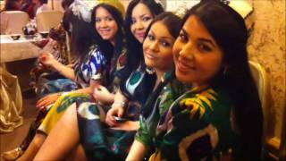 Uzbek Girls in National Clothes Milliy libosli o'zbek qizlar Узбечки в нац одеждах