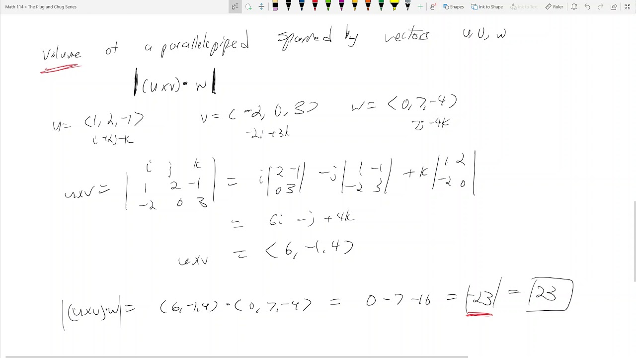 Math 114 124 Cross Product Triple Box Product The Plug And