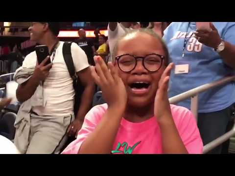 This Young WNBA Fan Got Sneakers & Her Reaction WILL MAKE YOUR DAY!