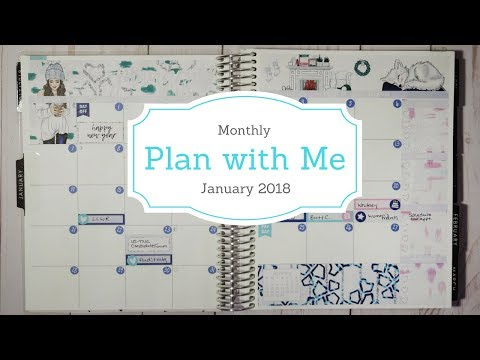 January 2018 Monthly Plan with Me
