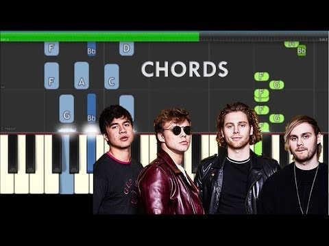 5 Seconds Of Summer - Youngblood Easy Piano Tutorial - Chords & Melody