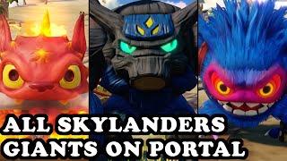 Skylanders Superchargers - All Skylanders Giants on Portal GAMEPLAY