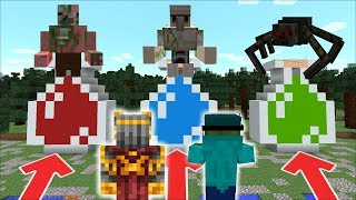 DON'T ENTER THE WRONG POTION WITH EVIL EFFECT!! EVIL MUTANT CREATURES INSIDE! Minecraft Mods