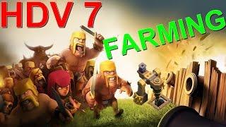 [CLASH OF CLANS] MEILLEUR VILLAGE FARMING HDV 7 AVEC LA FOREUSE D'ÉLIXIR NOIR !