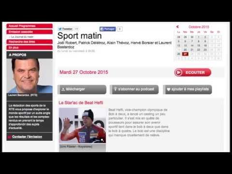RTS Sport matin | Interview Beat Hefti et Yann Moulinier | 27.10.2015