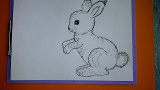 """Рисуем животных, оформляем  весенние открытки. """"Пасхальный заяц (кролик)"""""""